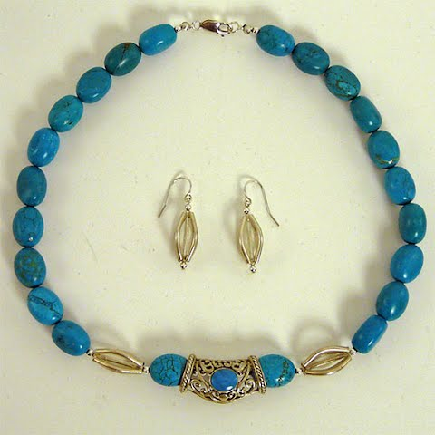 Sterling Silver and Turquoise by Nancy Comaford