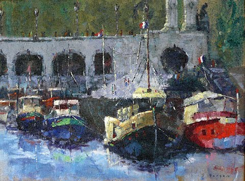 The Boats of the Seine, by Ghislaine Gargaro