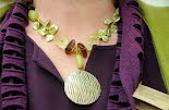 Etched Shell and Coin Pearls, by Vicki Williams