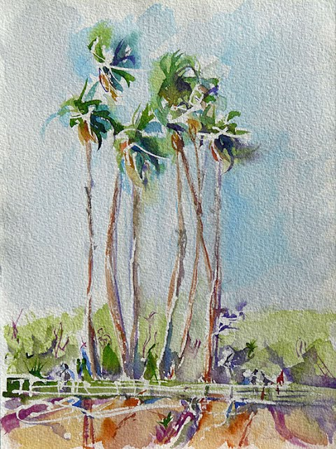 California Watercolor by Annie Clavel