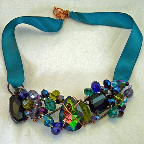 Blue-Green Crystal Cluster, by Sherri Gleason
