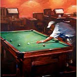 Billiards Night II, by Veronica Schmitt
