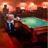 Billiards Night I, by Veronica Schmitt