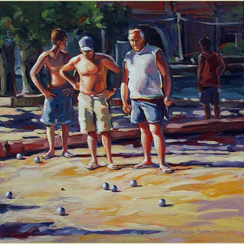 Pétanque Players I, by Veronica Schmitt