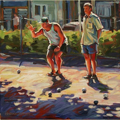 Pétanque Players II, by Veronica Schmitt